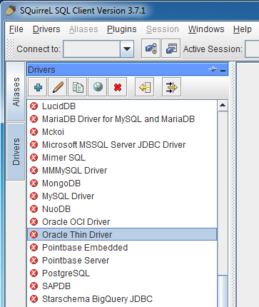 Squirrel SQL Driver Setup